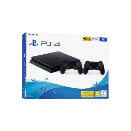 PS4 Console 1TB F Chassis Slim + 2 DualShock V2