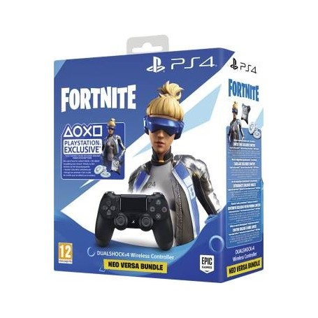 PS4 Dualshock 4 Jet Black +Fortnite VCH (2019)