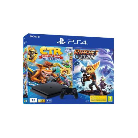 PS4 Console 1TB Slim + Crash Team Racing + Ratchet & Clank EU